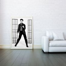 Elvis Presley, Jailhouse Rock , Decorative Arts, Prints & Posters,Wall Art Print, Poster Any Size - Black and White Poster